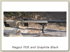 Magpul FDE and Graphite Black